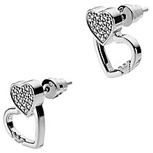 Emporio Armani Sterling Silver Heart Stud Earrings - Product number 6174213