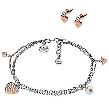 Emporio Armani Two Colour Bracelet Earring Gift Set - Product number 6174329