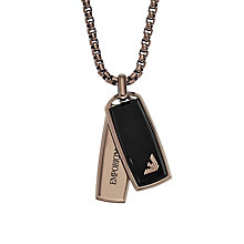 Emporio Armani Men's Ion Plated Dog Tag Necklace - Product number 6175325