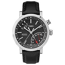 Timex Metropolitan Black Leather Strap Smartwatch - Product number 6175368