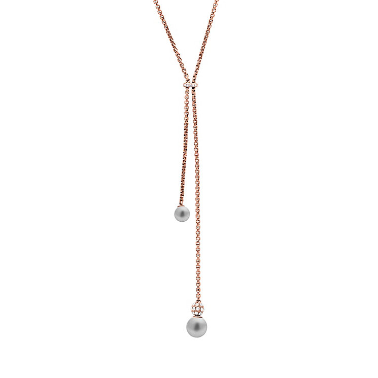 Michael Kors Rose Gold Tone Stone Set Necklace - Product number 6175430