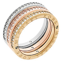Michael Kors Three Colour Stone Set Ring Size P - Product number 6175554