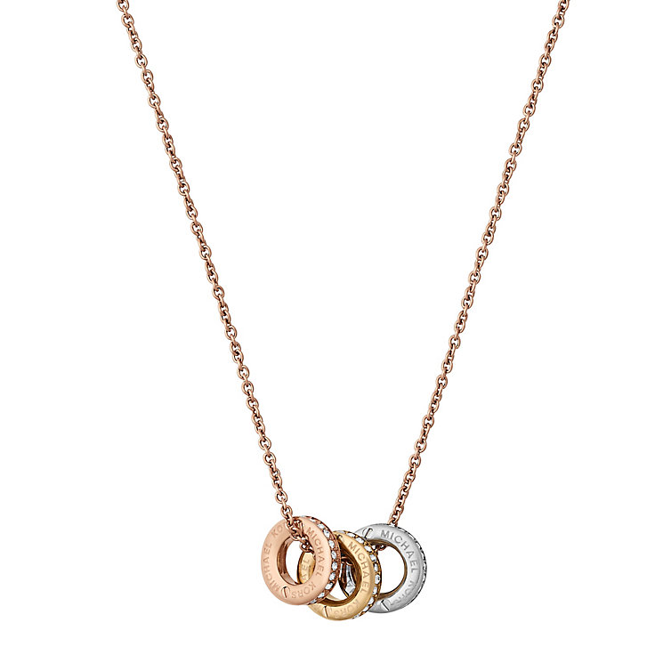 Michael Kors Three Colour Stone Set Necklace - Product number 6175716