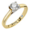 Leo Diamond 18ct yellow & white gold 0.66ct I-SI2 ring - Product number 6175880