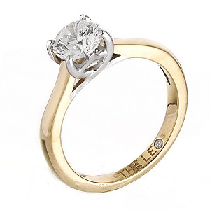 Leo 18ct yellow & white gold 1 carat I-SI2 diamond ring - Product number 6176038