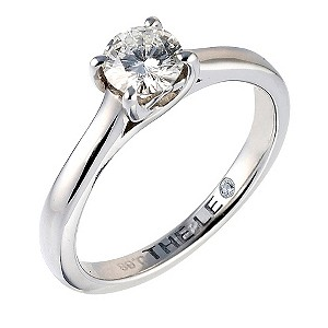 Leo Diamond platinum 0.66ct I-SI2 diamond solitaire ring - Product number 6176151
