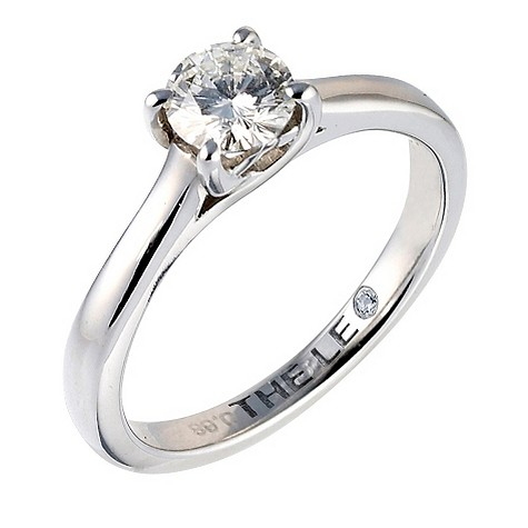 Platinum 66 point Leo Diamond solitaire ring