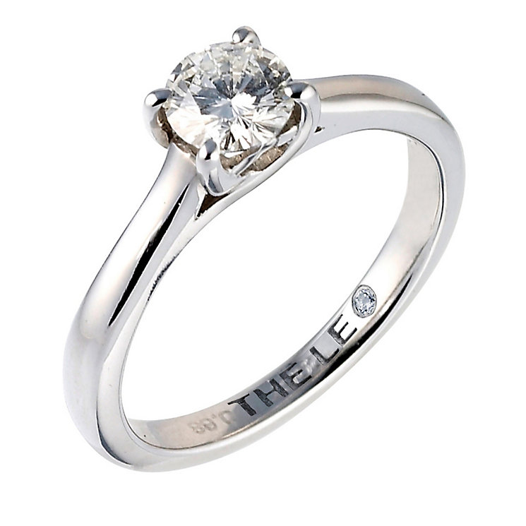 Leo Diamond platinum 0.66ct I-SI2 solitaire ring - Product number 6176151
