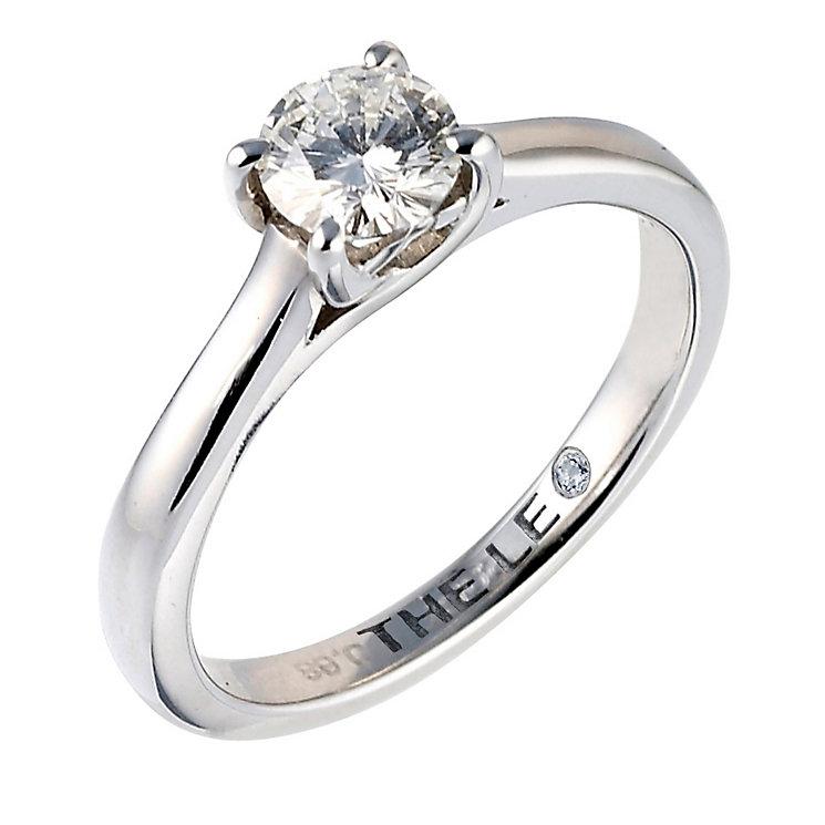Leo Diamond platinum 0.66ct I-SI2 solitaire ring - Product number 6176151