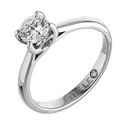 Platinum one carat Leo Diamond solitaire ring