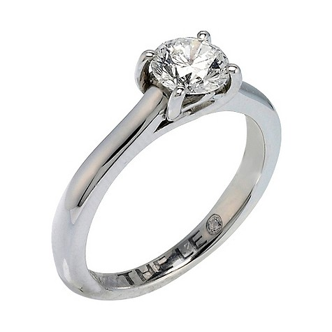 Platinum 88 point Leo Diamond solitaire ring
