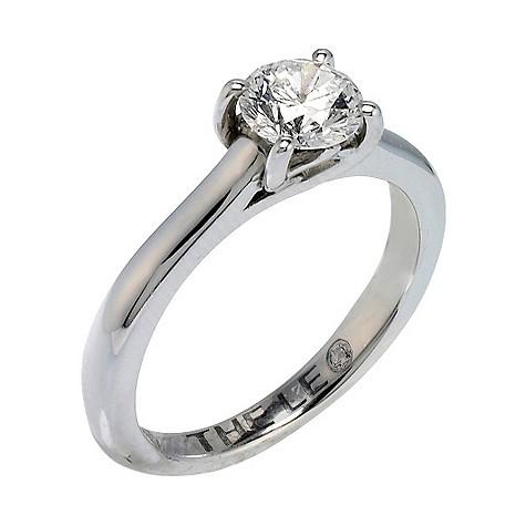 Platinum 88 point Leo Diamond solitaire ring