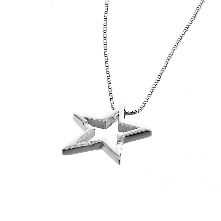 Hot Diamond Sterling Silver Star Pendant - Product number 6181341