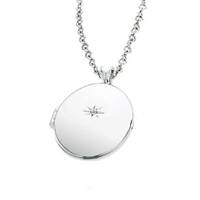 Hot Diamond Sterling Silver Oval Locket Pendant - Product number 6181384