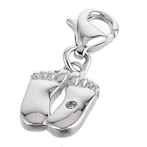Hot Diamonds Pitter Patter Silver Charm - Product number 6181457