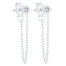 Sterling Silver Cubic Zirconia Front & Back Drop Earrings - Product number 6182224