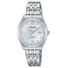 Pulsar Ladies' Stainless Steel White Dial Bracelet Watch - Product number 6183352