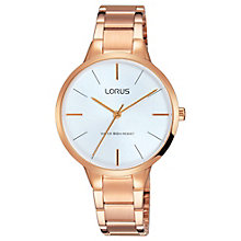 Lorus Ladies' Round Dial Rose Gold Bracelet Watch - Product number 6183670