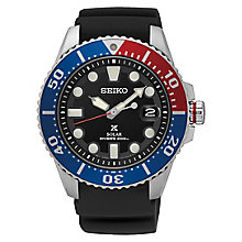 Seiko Prospex Men's Solar Pepsi Bezel Black Strap Watch - Product number 6188036