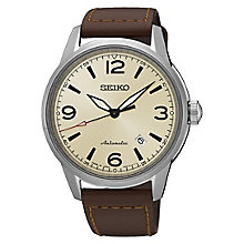 Seiko Presage Men's Brown Leather Strap Watch - Product number 6188141