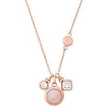 Michael Kors Rose Gold Tone Rose Quartz Necklace - Product number 6188265