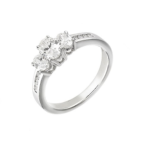 18ct white gold one carat diamond ring