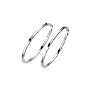 9ct white gold hoop earrings - Product number 6191789