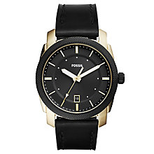 fossil watches men s ladies official fossil h samuel fossil men s black dial black leather strap watch product number 6193617