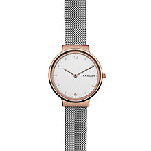 Skagen Ladies' White Dial Stainless Steel Bracelet Watch - Product number 6193692