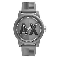 Armani Exchange Grey Dial Grey Silicone Strap Watch - Product number 6194079