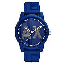 Armani Exchange Blue Dial Blue Silicone Strap Watch - Product number 6194095
