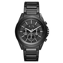 Armani Exchange Men's Black Ion-Plated Bracelet Watch - Product number 6194141