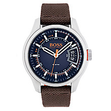 Hugo Boss Orange Men's Brown Nylon Strap Watch - Product number 6194192