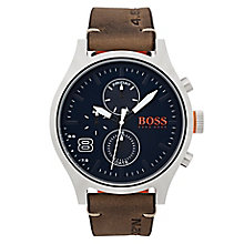 Hugo Boss Orange Men's Brown Leather Strap Watch - Product number 6194486