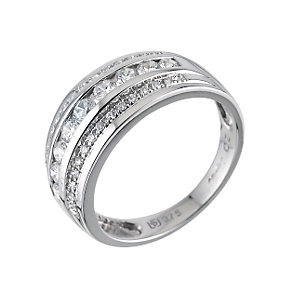 9ct White Gold Cubic Zirconia Ring - Product number 6194591