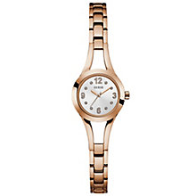 Guess Ladies' Pink Dial Rose Gold-Plated Bracelet Watch - Product number 6194907