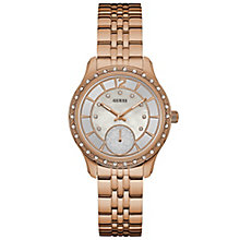Guess Ladies' Stone Set Rose Gold-Plated Bracelet Watch - Product number 6194923
