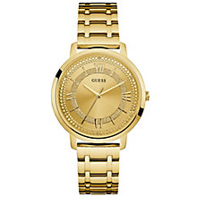 Guess Ladies' Stone Set Gold-Plated Bracelet Watch - Product number 6194931