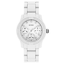 Guess White Dial White Silicone Strap Watch - Product number 6194966