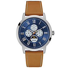 Guess Men's Blue Dial Tan Leather Strap Watch - Product number 6195024
