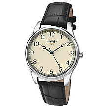 Limit Ladies' Black Leather Strap Watch - Product number 6205623