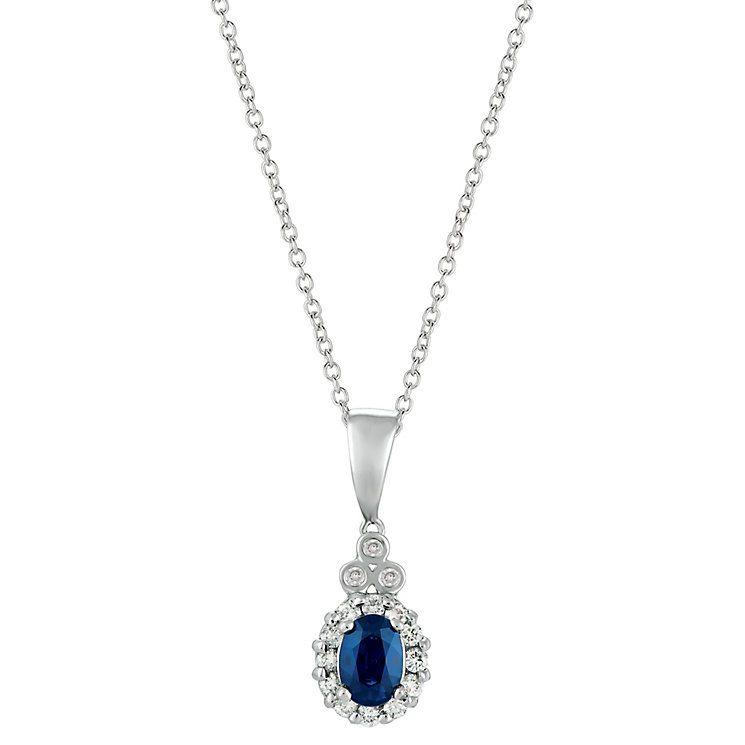 Le Vian 14ct Vanilla Gold Sapphire & 0.20ct Diamond Pendant - Product number 6207049