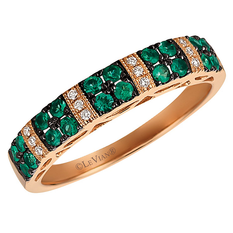 Le Vian 14ct Strawberry Gold Emerald & Diamond Ring - Product number 6207502