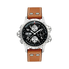 Hamilton men's brown leather strap watch - Product number 6209750