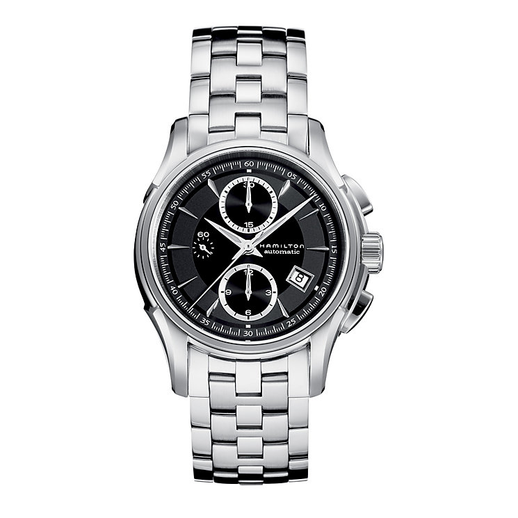 Hamilton Jazzmaster black dial stinaless teel bracelet watch - Product number 6210015