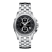 Hamilton Jazzmaster black dial stinaless teel bracelet watch - Product number 6210015