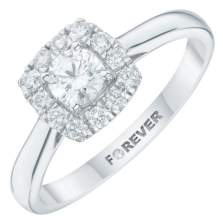 Platinum 1/2 Carat Forever Diamond Ring - Product number 6211631