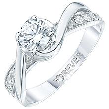 18ct White Gold 1 Carat Forever Diamond Ring - Product number 6212174