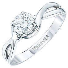 18ct White Gold 1/2 Carat Forever Diamond Ring - Product number 6212743