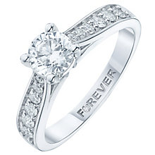 Platinum 1 Carat Forever Diamond Ring - Product number 6212921